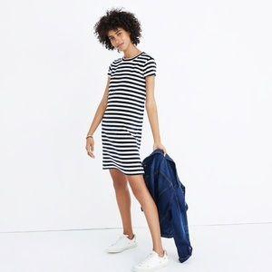 Medium Madewell Striped Velour Tee Dress